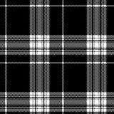 Black and white tartan scottish seamless pattern Royalty Free Stock Photography