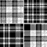 Black and white tartan seamless vector pattern Royalty Free Stock Image