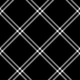 Black and white tartan traditional fabric seamless pattern, vector Royalty Free Stock Photo