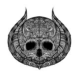 Black and White Tattoo Skull Royalty Free Stock Images