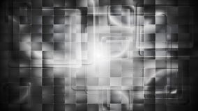 Black and white tech squares video animation stock video