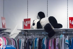 Black and White Teddy Bear Stock Photo