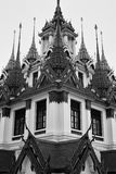 Black and white temple Royalty Free Stock Image