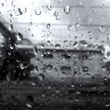 Black&White, temps, pluie, la meilleure photographie image stock