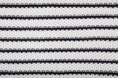 Black and white textile texture Royalty Free Stock Photo