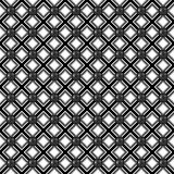 Black and white texture. Abstract geometric pattern with lines, rhombuses and seamless background. Black and white texture Stock Images
