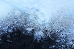Black and white texture of ash and snow royalty free stock image