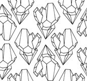 Black and white texture of outline illustration natural crystals. Vector background for wrapping, wallpaper, postcards and your design Royalty Free Stock Image