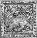The black and white of Thai fine art relief Stock Image