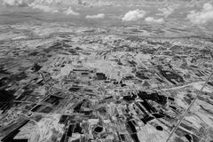Black & White, Thailand map bird eye view. In Near Infrared stock photos