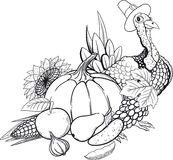 Black And White Thanksgiving still life Royalty Free Stock Image