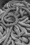 Black and White thick ropes Royalty Free Stock Photos