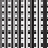 Black and white thick and thin striped weave pattern background Stock Images