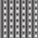 Black and white thick and thin striped weave with star inside pa Stock Images