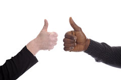 Black and white thumb ups Royalty Free Stock Photography