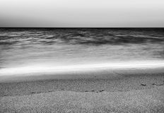 Black and white tidal waves landscape background. Hd Royalty Free Stock Image