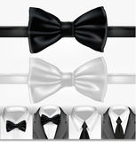 Black and white tie. Vector vector illustration
