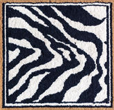 Black and white tiger rug Royalty Free Stock Image
