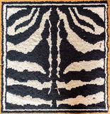 Black and white tiger rug Royalty Free Stock Photos