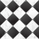 Black And White tile. Seamless background. EPS 10 stock illustration