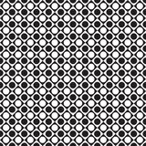 Black and white tile chessboard pattern with circles, vector squares background. The geometric dot pattern Royalty Free Stock Photography