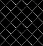 Black And White tile seamless background in grunge style. Stock Images