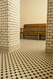 Black and White Tiled room Royalty Free Stock Photos