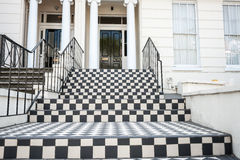 Black and white tiled steps Royalty Free Stock Images