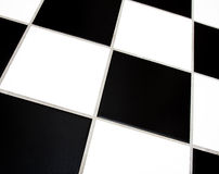 Black and white tiles Stock Photo