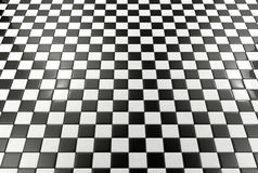 Black and white tiles background. Black and white floor tiles pattern background Stock Photography