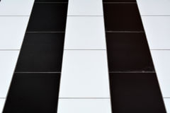 Black-and-white tiles on the floor.  Stock Photo