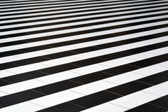 Black-and-white tiles on the floor.  Royalty Free Stock Photo