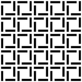 Tiling Squares Seamless Texture Pattern. Black and white tiles mosaic geometric pattern. Lines forming box squares texture seamless tile Royalty Free Stock Image