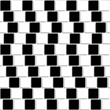 Black and white tiles optical illusion seamless Royalty Free Stock Photos