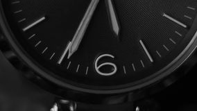Black and white time lapse of woman wrist watch close up. Black and white time lapse of woman wrist watch close up stock footage