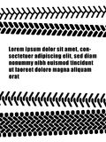 Black and white tire tread protector track ad banner template, vector. Illustration Royalty Free Stock Photo