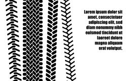 Black and white tire tread protector track ad banner template, vector. Illustration Stock Image