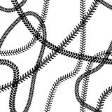 Black and white tire tread protector track seamless pattern, vector Stock Photography