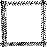 Black and white tire tread protector track on white grunge frame design, vector Royalty Free Stock Images