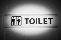 Black& white of toilet sign Stock Images