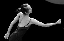 The black and white tones: Dance melody Royalty Free Stock Images