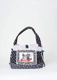 Black and white tote Royalty Free Stock Photo