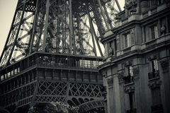Black and white Tour Eiffel Stock Photo
