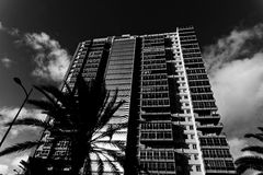 Black and White Tower Block Stock Photos