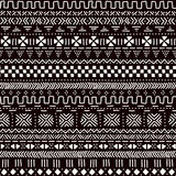 Black and white traditional african mudcloth fabric seamless pattern, vector Royalty Free Stock Photos