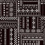 Black and white traditional african mudcloth fabric seamless pattern, vector Royalty Free Stock Image