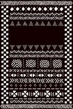 Black and white traditional african mudcloth fabric template for a banner, vector Royalty Free Stock Photography