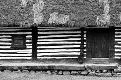 Black and white traditional house Stock Photography