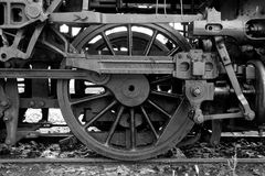 Black And White Train Wheel Royalty Free Stock Photo