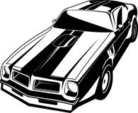 Black and white Trans am Stock Photo